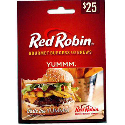 photograph relating to Red Robin Coupons Printable named $25 Purple Robin Reward Card - BJs WholeSale Club