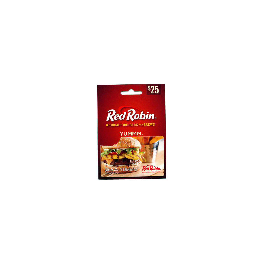picture regarding Red Robin Coupons Printable known as $25 Pink Robin Present Card
