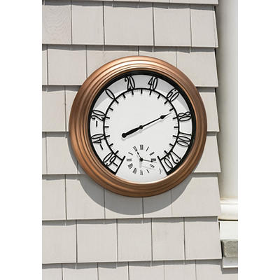 Berkley Jensen Outdoor Wall Thermometer and Clock