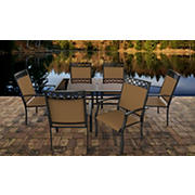 Sea Point Bonn 7-Pc. Glass Dining Set