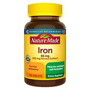 Nature Made Iron Dietary Supplement Tablets, 365 ct.
