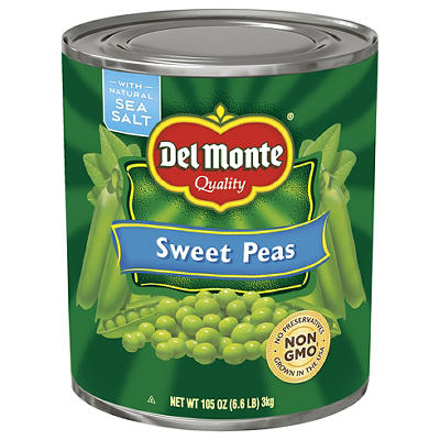 Del Monte Sweet Peas, 105 oz.