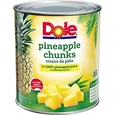 Dole Fancy Pineapple Chunks, 106 oz.
