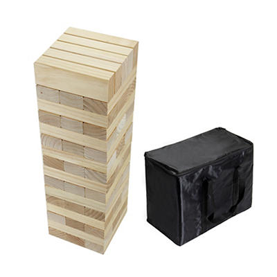 Tumbling Timbers Giant Wood Block Game with Carry Bag