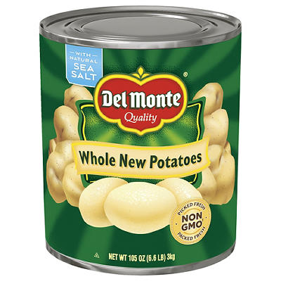 Del Monte Whole Potatoes, 105 oz.