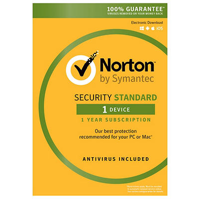 Norton Security Standard for 1 Device, 1 Year