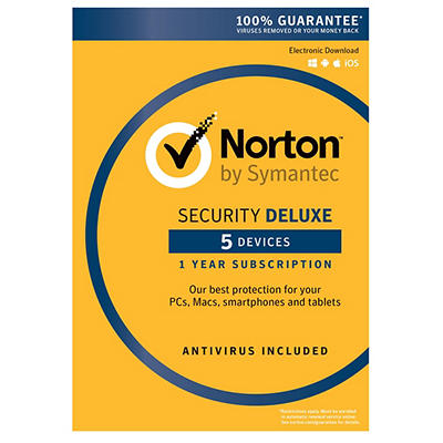 Norton Security Deluxe for 5 Device, 1 Year