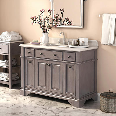 "Lanza Casanova 48"" Vanity - Antique Gray"