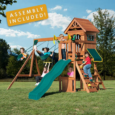 Backyard Play Systems Swing Fort Swing Set with Professional Installation