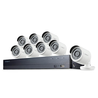 Wisenet 8-Channel 8-Camera 1080p Security System with 1TB HDD DVR