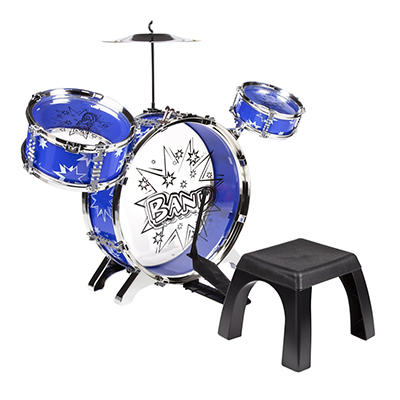 World Tech Toys Big Band Toy Drum Set - Blue
