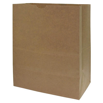 AJM 1/7 BBL 57# Natural Kraft Grocery Sac, 500 ct.