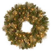 "National Tree Company 24"" Carolina Pine Wreath - Clear"