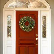 "National Tree Company 24"" Crestwood Spruce Wreath - Warm White"