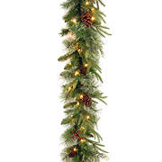 "National Tree Company 9' x 10"" Colonial Garland - Clear"