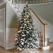 National Tree Company 7.5' Snowy Everest Fir Tree - Clear