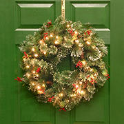 "National Tree Company 24"" Wintry Pine Wreath with Cones"