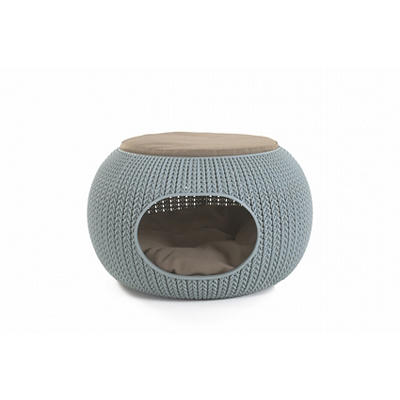 Keter Knit Cozy Pet Home - Misty Blue