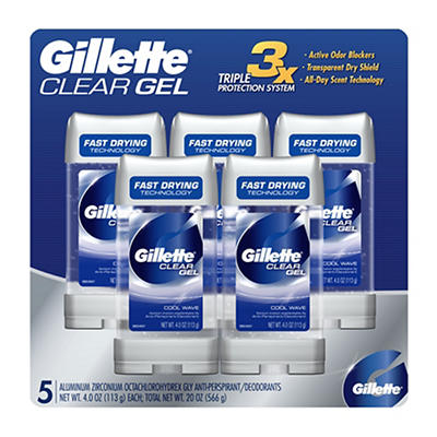 Gillette Cool Wave Clear Gel with Power Beads Men's Anti-Perspirant an