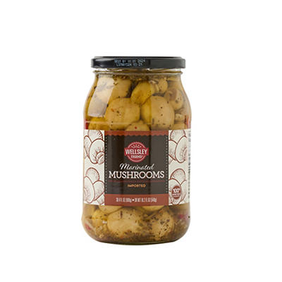 Wellsley Farms Marinated Mushrooms, 30.4 oz.