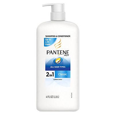 Pantene Pro-V Classic 2-in-1 Shampoo and Conditioner, 40 oz.