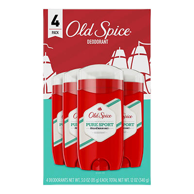 Old Spice High Endurance Deodorant Pure Sport, 4 pk.