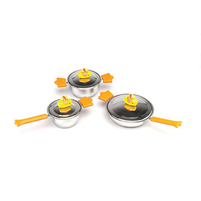 BergHOFF Children's Sheriff Duck 6-Pc. Cookware Set