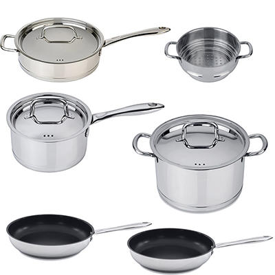 BergHOFF CollectNCook 18/10 Stainless Steel 9pc Cookware Set