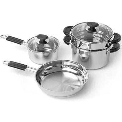BergHOFF Kasta 6-Pc. Stainless Steel Cookware Set