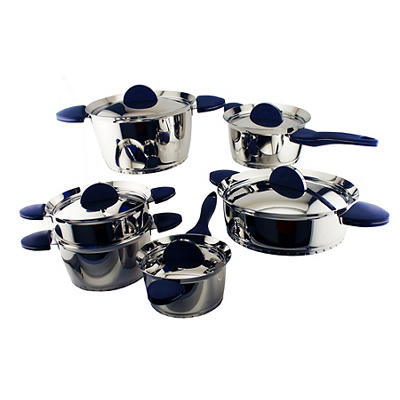 BergHOFF Stacca 11-Pc. Stainless Steel Cookware Set - Blue