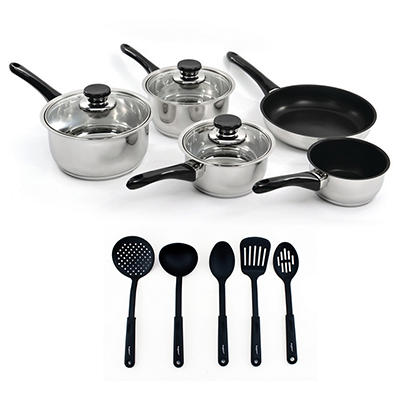 BergHOFF Vision 13-Pc. Stainless Steel Cookware Set