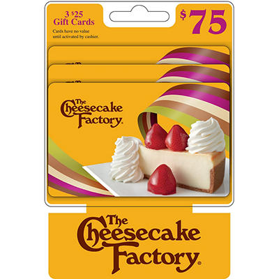 $25 The Cheesecake Factory Gift Card, 3 pk.