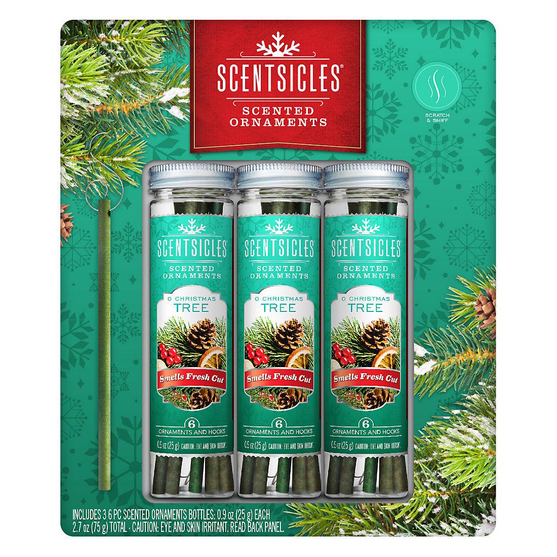 Scentsicles Tree Ornament White Winter Fir Bottle Pack of 6