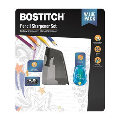 Bostitch Battery Powered Pencil Sharpener Value Pack