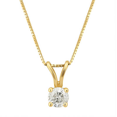 .20 ct. t.w. Diamond Solitaire Pendant Necklace in 14k Yellow Gold