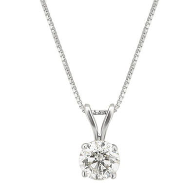 .50 ct. t.w. Diamond Solitaire Necklace in 14k White Gold