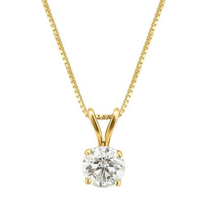 .50 ct. t.w. Diamond Solitaire Necklace in 14k Yellow Gold