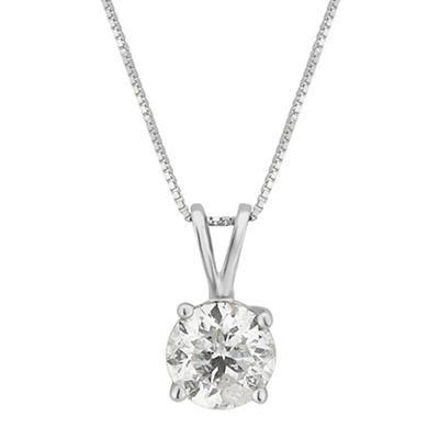 .75 ct. t.w. Diamond Solitaire Necklace in 14k White Gold