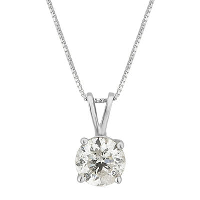 1.00 ct. t.w. Diamond Solitaire Necklace in 14k White Gold