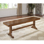 W. Trends Wood Bench - Antique Brown