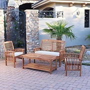 W. Trends 4-Pc. Outdoor Hunter Acacia Wood Chat Set - Brown