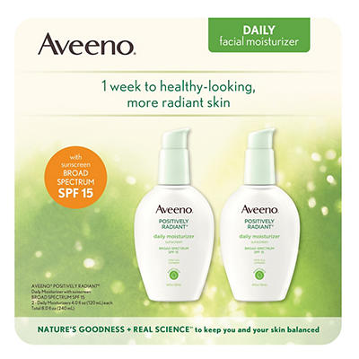 Aveeno Positively Radiant Daily Moisturizer with Sunscreen Broad Spect