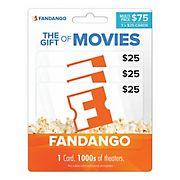 $25 Fandango Gift Card, 3 pk.