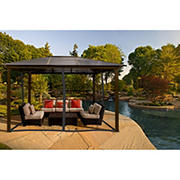 Paragon Outdoor Madrid 10' x 13' Gazebo with Mosquito Net