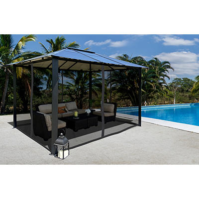 Paragon Outdoor Sonora 10' x 13' Gazebo with Mosquito Net