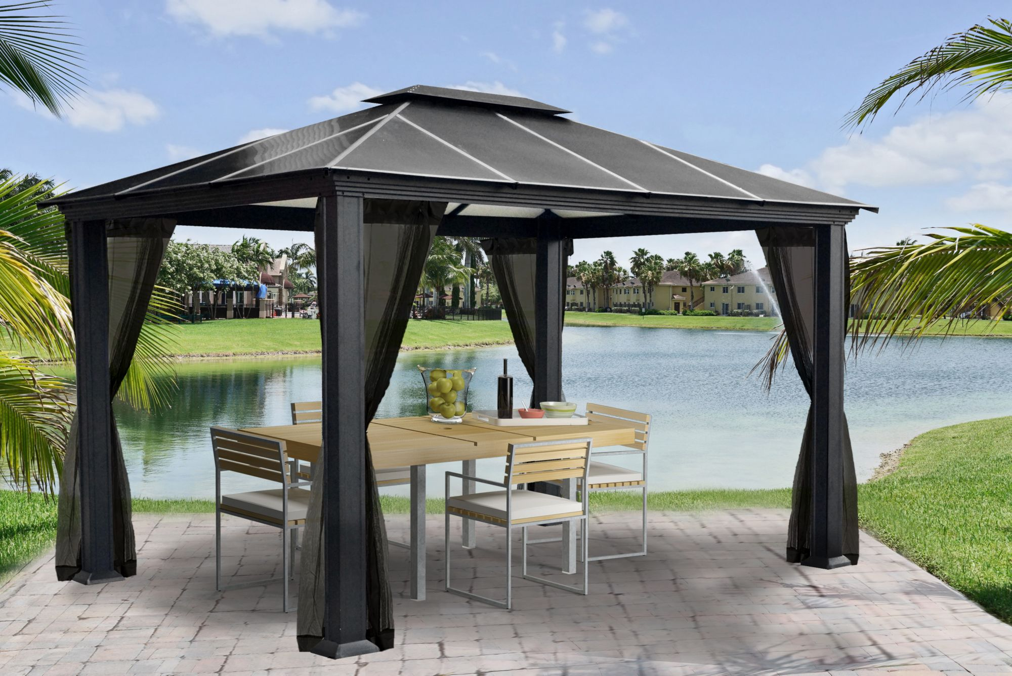 Paragon Outdoor Paragon Outdoor Santa Ana 11 X 13 Gazebo With Mosquito Net From Bj S Wholesale Club Daily Mail