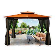 Paragon Outdoor Kona 10' x 12' Gazebo with Mosquito Netting - Rust