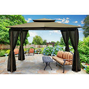 Paragon Outdoor Kona 10' x 12' Gazebo with Mosquito Netting - Sand