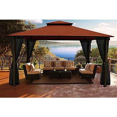 "Paragon Outdoor Arizona 11"" x 14"" Gazebo with Sunbrella Canopy and Mos"