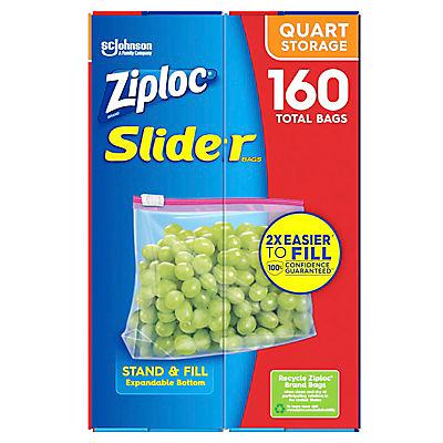 Ziploc 1-Qt. Slider Storage Bags, 160 pk.
